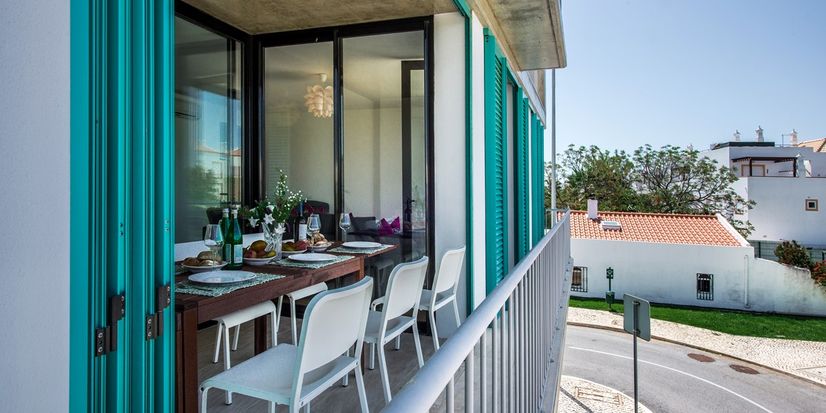 Looking in to the super terrace at Apartment Louro