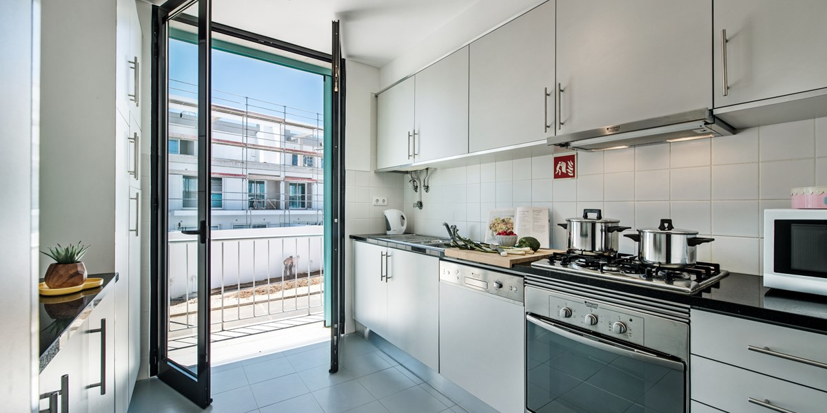 Fabulous Kitchen With A Door To Let The Day In