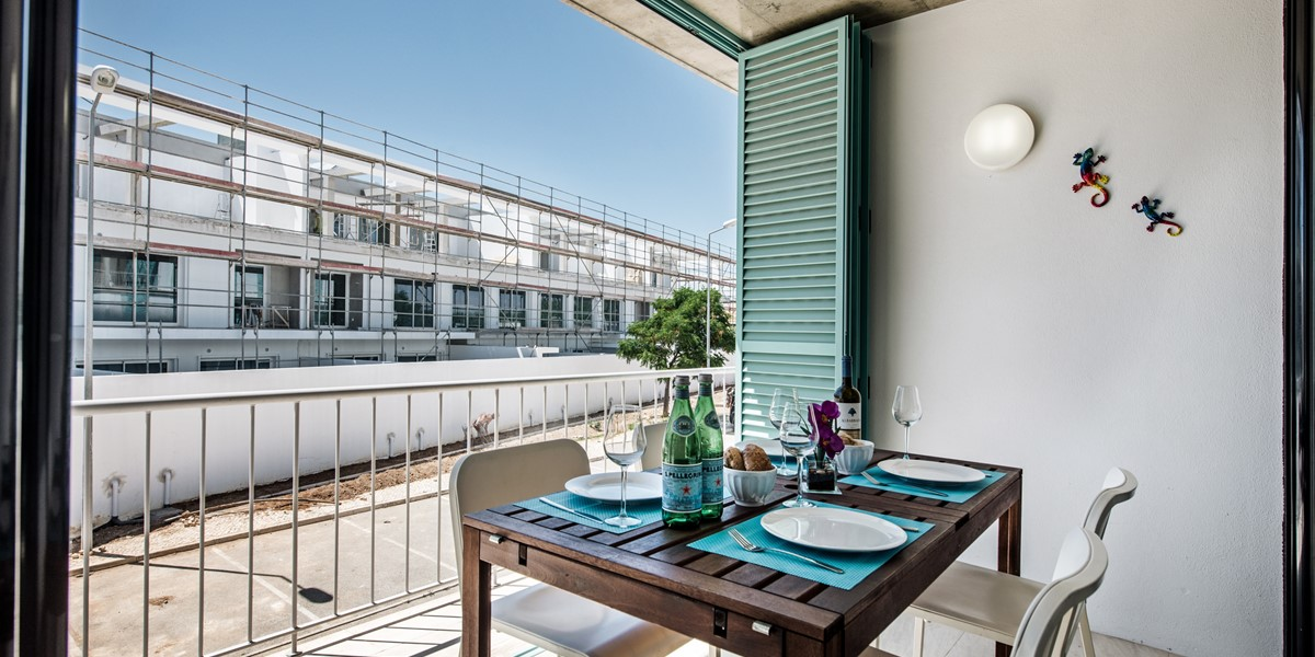 The Terrace And Outside Dining Space At Apartment Louro