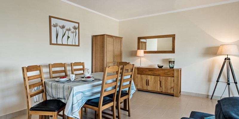 Smart Light Wood Dining Table And Sideboard